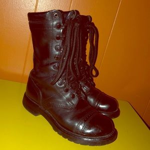 """Corcoran Black Leather 10"""" Field Boots Combat"""